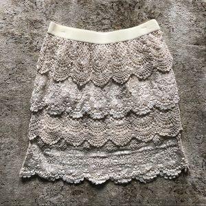 Dresses & Skirts - White Layered Crochet Skirt